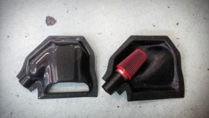 500 abarth airbox carbon intake open